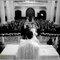 Fotografía de boda religiosa desde el altar