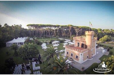 Un mariage en Italie ? Fondez pour le Château Borghese, un lieu de réception magique près de Rome