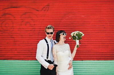 Fiéis ao próprio estilo: noivas de franjinha e seus penteados com personalidade