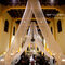 Fotografía de boda religiosa con panorámica a´rea del templo