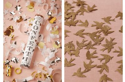Confeti para lanzar a los recién casados, una opción fantástica y llena de color