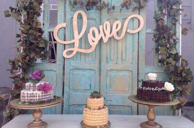 6 estilos diferentes para tu ponqué de boda