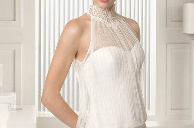 Vestidos de novia con cuello alto: te damos razones para llevarlo