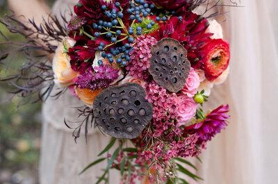 Descubre los ramos de novia perfectos para una boda de otoño