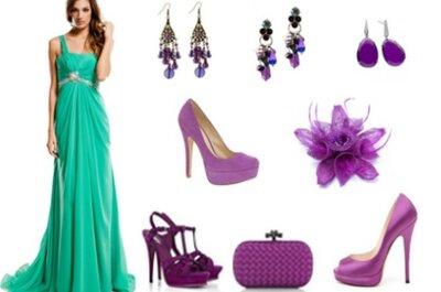 ¿Cómo combinar un vestido verde esmeralda?