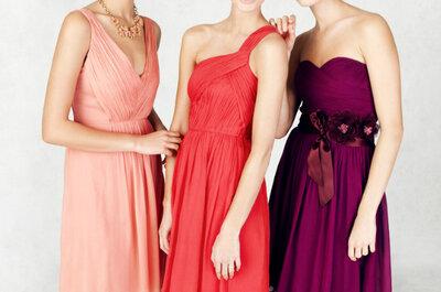 Vestidos para damas de honor en todos los colores