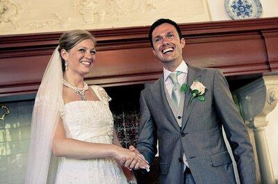 Bruidsjurk uit Spanje, trouwringen uit Londen, bruiloft in Holland!