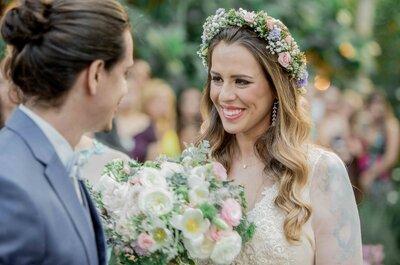 Casamento ao ar livre de Mari & Renan: conto de fadas SUPER romântico e florido em Brasília!