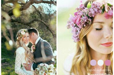 Coroa de flores: o acessório perfeito em 2015 para as amantes do country-chic