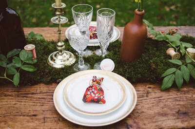 Casamento rústico no bosque