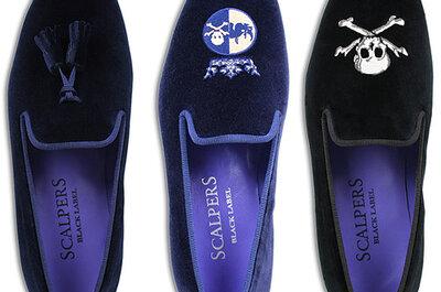 Los slippers son la última tendencia en zapatos para novios