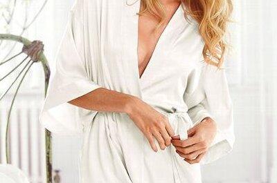 Szlafrok ślubny - elegancka bielizna panny młodej