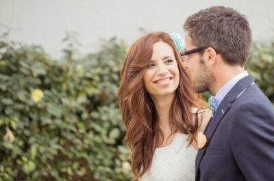 Un amore dai toni freschi e romantici: verde menta e pesca per il sì di Andreia e Bruno