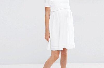 15 vestidos ideales para una novia embarazada
