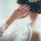 Detalles especiales del vestido de novia.