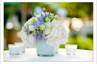 Decoración de bodas: flores lavanda para los centros de mesa