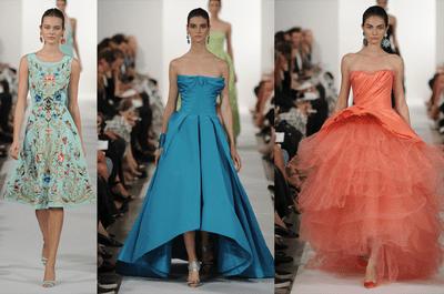 Primavera multicolor: Vestidos de fiesta 2014 de Oscar de la Renta