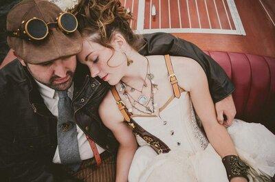 Casamento Steampunk: passado e futuro juntos criam um cenário espetacular!
