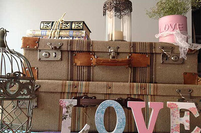 Decora tu boda con maletas