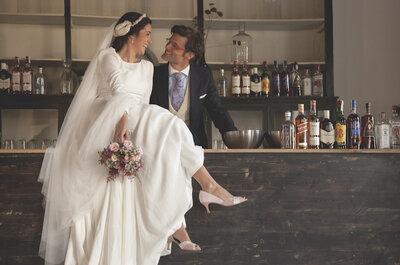 Enamorados a pesar del tiempo y la distancia: la boda de Patricia y Jorge