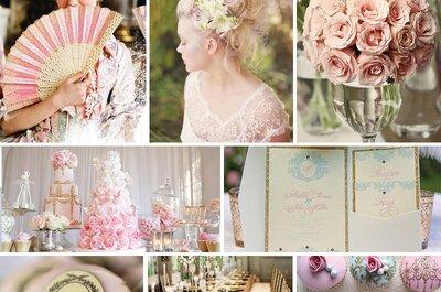 Un matrimonio in stile rococò: glamour d'altri tempi per spose sofisticate