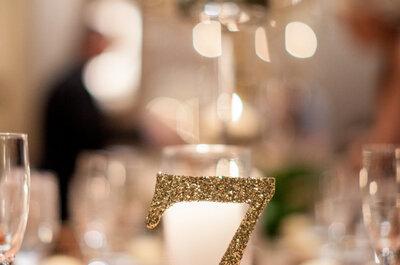 Piensa en cada detalle: Formas para decorar la numeración de las mesas con estilo 2016