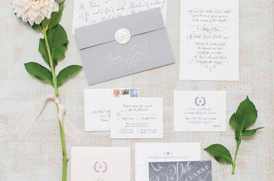 Invitaciones de boda: ¿Qué estilo de tipografía va mejor con tu boda?