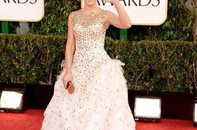 Inspírate en los Golden Globes 2013 para tu vestido de novia