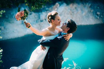 Julie + Guilhem : une arrivée en vélo et un magnifique mariage provençal !