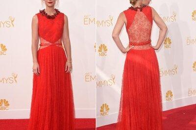 El combo rojo, negro y blanco: Los vestidos de fiesta más hermosos desde la Red Carpet de los Emmys 2014