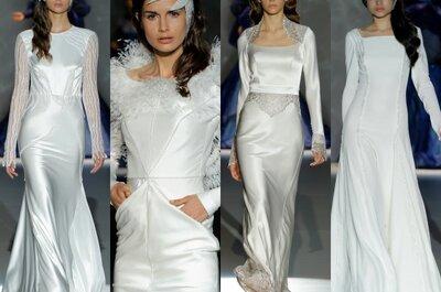 Vestidos de noiva com manga longa para 2015: case com elegância e estilo