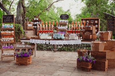Conoce las mejores mesas de dulce y barras más originales para tu boda