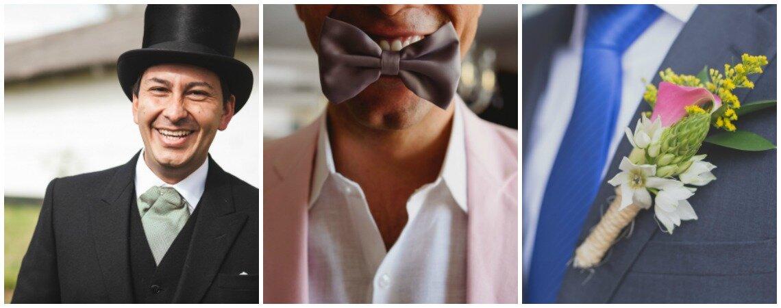 ¿Fajón, corbatín o corbata? ¡Cómo elegir el mejor accesorio para el novio!