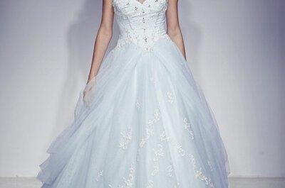 Vestidos de novia azules Alfred Angelo 2013