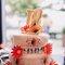 Tortas de boda en patillaje.   Foto: Trowfotographie & Feestudio.