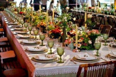 A primavera invade as mesas do seu casamento