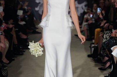 Elegancia clásica, el pilar básico en los vestidos de novia primavera 2015 de Carolina Herrera