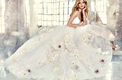 Explosão floral no seu vestido de noiva: tendência TOP!