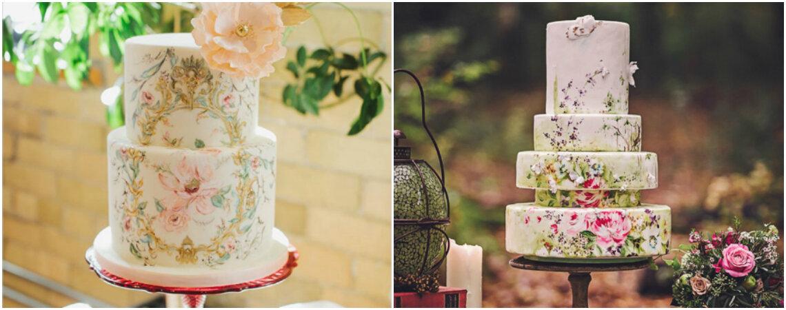 Bemalte Hochzeitstorten: 9 unglaubliche Stile für süsse Kunstwerke!