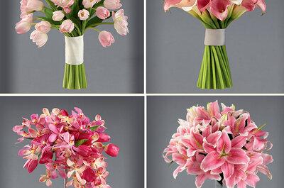 Encantadora colección de arreglos florales para boda de Vera Wang