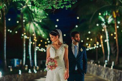 Casamento rústico ao ar livre de Paula & Danilo: despojado com decoração floral apaixonante!