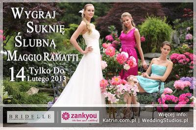 Konkurs ślubny - wygraj suknię ślubną Maggio Ramatti