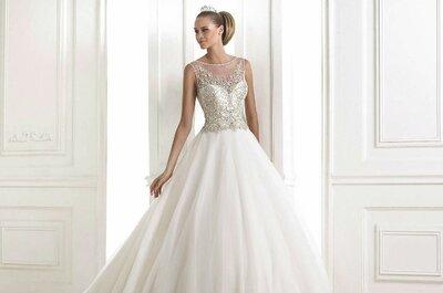 Maravilhosos vestidos de noiva modelo princesa da Pronovias 2015