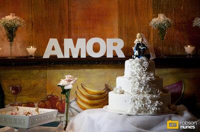 Letras decorativas: um brilho a mais no seu casamento