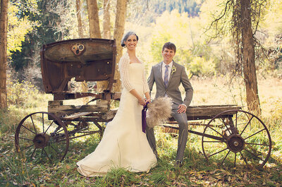Real Weddings: Boda romántica vintage en Aspen, Colorado