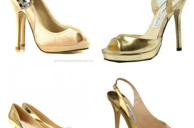 Superglamour: gouden trouwschoenen!