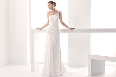 Tendencia en vestido de novia: ¡con el escote asimétrico triunfarás!