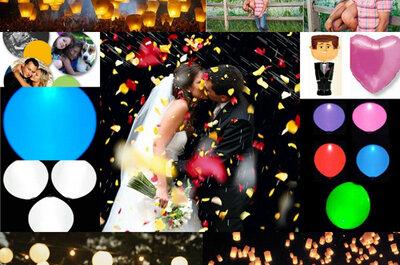 Le lancer de ballons ou de papillons à votre mariage : y avez-vous pensé ?