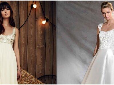 Robes de mariée à col rond 2017 : pour une mariée élégante et romantique!