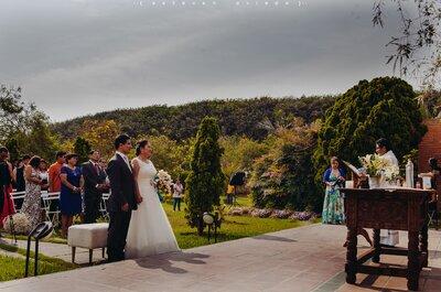 Cinco beneficios de organizar tu boda en una hacienda al aire libre